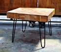 Industrial Coffee Table in Rustic Vintage Design for Restaurants, Bars & Cafe Furniture