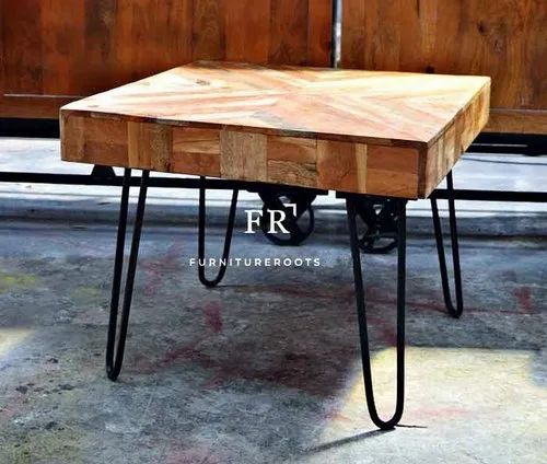 Industrial Coffee Table In Rustic Vintage Design For Restaurants