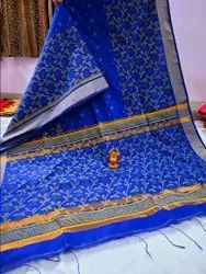 Printed Handloom Fabric work Sarees, With blouse piece, 6.5m