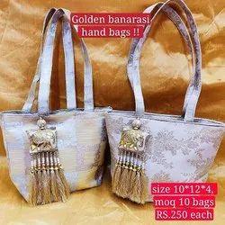 Banarasi Gold  Hand Bag