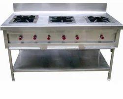 Stainless Steel Three Burner Gas Range