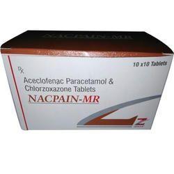 Aceclofenac 100 Mg Paracetamol 325 Mg Chlorzoxazone Tablet