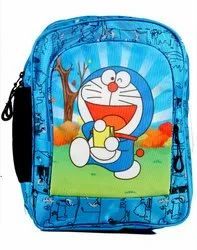 Blue Unisex AV Cartoon Kids Bag - Doraemon for School