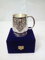 Copper Cup With Silver Finish