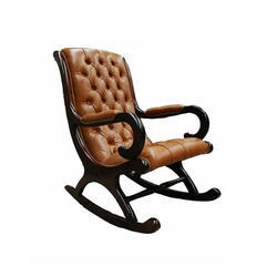 Royal Comfort Chesterfield Wooden Rocking Chair