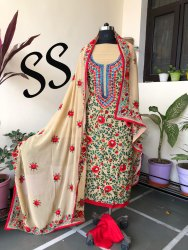 Unstitched Georgette Kantha Suits