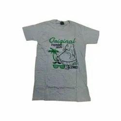 Printed Kids Round Neck Cotton T Shirt