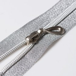 Nylon No 3 Zippers Silver Teeth