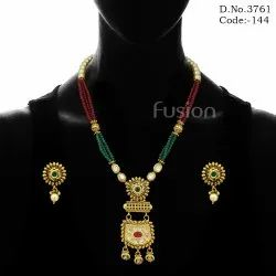 Traditional Beaded Pendant Set
