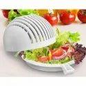 Plastic Multipurpose-Strainer and Salad Cutter Chopper Bowl - Salad Maker