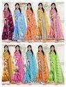 Saffron Printed Sarees
