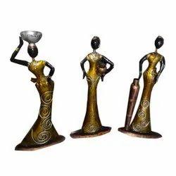 Golden Handmade Iron Musician Dolls Set