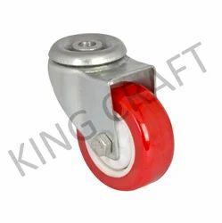 Zinc Plated Swivel Break Caster Trolley Wheel