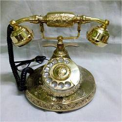 Antique Style Golden Brass Phone