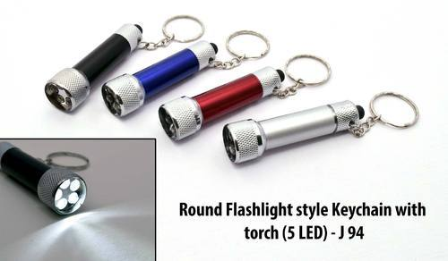Cylinder Metal Led Flashlight Keychain, Packaging Type: Polybag, Size: Small