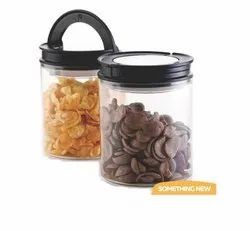 Homeglare Plastic 600 ml Air Tight Container Set, For Kitchen, Round