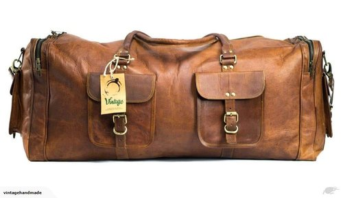 96b163dfa209 Leather Duffel Bag