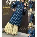 Mfc Cotton Designer Ladies Garara Kurti, Size: 38-46