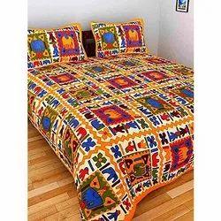 Jaipuri Print King Size Bedsheet