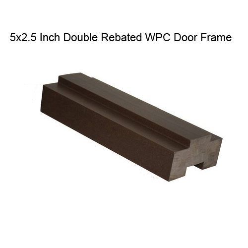 5x2.5 Inch Double Rebated WPC Door Frame