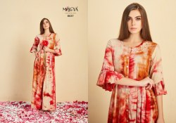 Multi Color Rayon Gown