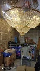 LED aluminuim 6 ft crystal jhumar, Model Name/Number: 124