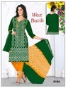 Wax Green Batik Salwar Suits