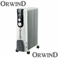 Oil Filled Radiator Heater With Fan, Thermostat & Auto Cut