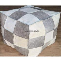 Rugs In Style Modern Designer Leather Pouf, Seating Capacity: 1