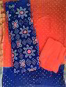 Unstitched Bandhani Embroidery Dress Material