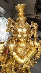 Krishna Brass Statues for Interior Decor
