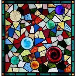 Square Decorative Glass Art, For Hotel