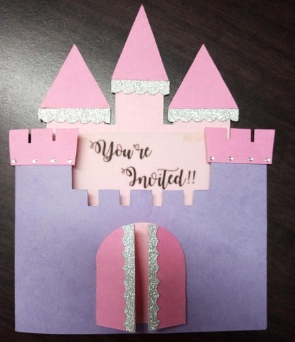 Birthday anniversary tri fold insert princess castle birthday birthday anniversary tri fold insert princess castle birthday invitation stopboris Image collections