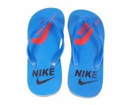 Nike Printed Sky Blue Rubber Slipper, 5-10 Mm
