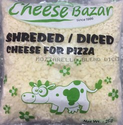 Mozzarella Blend Diced, Packaging Size: 2Kg