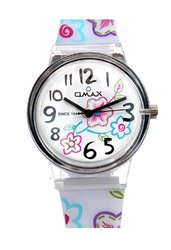 Omax Analog White Dial Children''s Watch - KD110