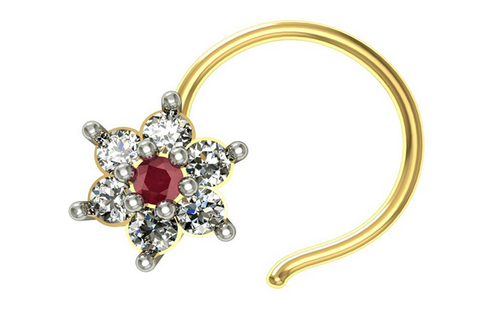 Gold Plated Diamond Nose Pin At Rs 500 Piece Nose Pin Id