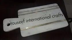 Brass inlay chopping board