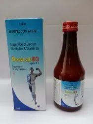 Calcium Carbonate Vitamin D3 Vitamin B12 Syrup 200ml
