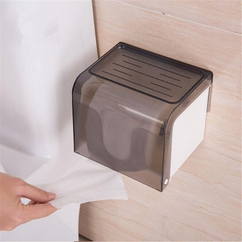 Plastic Self Adhesive Two Way Kitchen Toilet Paper Holder Dispenser