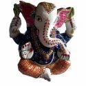 Marble Meenakari Ganesh Statue