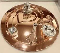 Copper Plated Pooja Thali