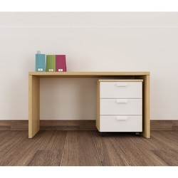 Brown and White 3 Drawer Plywood Study Tables