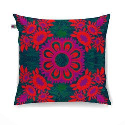 Magnificent Flower Motif Cushion Cover