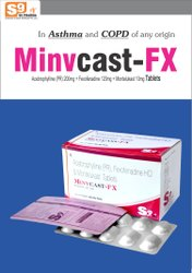 Acebrofyline 200mg   Fexofenadine 120mg   Montelukast 10mg