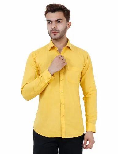ec229ff069520f Studio-ANF Casual Wear Mustard Color Casual Shirt