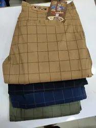 Regular Fit Summer Wear G-fit cotton checks trouser