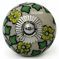 Embossed Ceramic Door Knobs