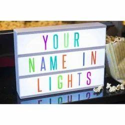 Name LED Light Night Lamp