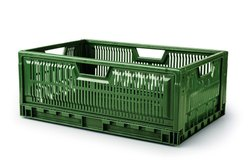 Mesh Plastic Foldable Crates, Size: 600 X 400 X 235, Capacity: 15 -35 Kg